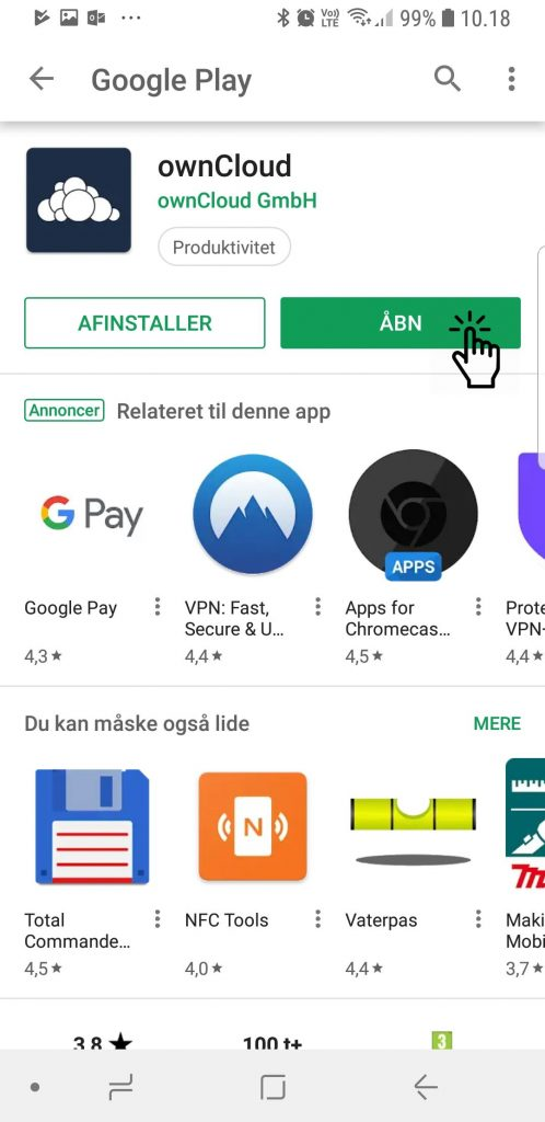 Androind Google Play Open App
